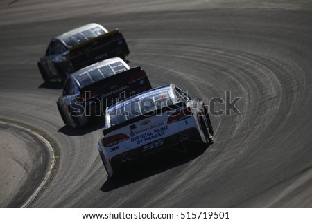 Avondale, AZ - Nov 13, 2016: Jamie McMurray (1) battles for position during the Can-Am 500(k) at the Phoenix International Raceway in Avondale, AZ.