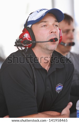 AVONDALE, AZ - OCT 5: Crew chief Chad Knaus during a NASCAR Sprint Cup track testing session on Oct. 5, 2011 at Phoenix International Raceway in Avondale, AZ. - stock photo