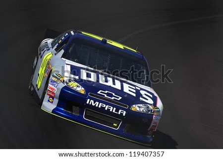 AVONDALE, AZ - OCT 5: Jimmie Johnson (48) takes hot laps during a NASCAR Sprint Cup track testing session on Oct. 5, 2011 at Phoenix International Raceway in Avondale, AZ.