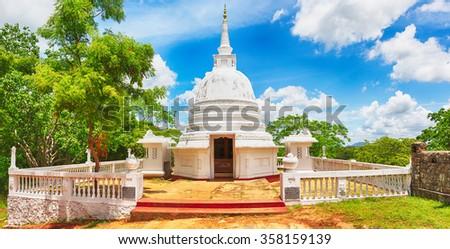 Avukana dagoba near Kekirawa, Sri Lanka. Panorama - stock photo