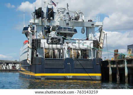 Awaiting sea trials, fishing vessel shows off her colors