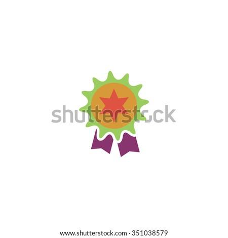 Award. Colorful pictogram symbol on white background. Simple icon - stock photo
