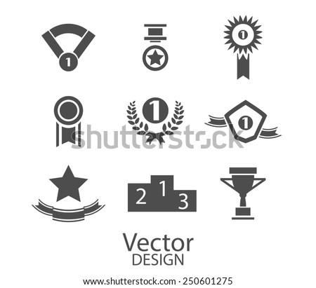 award, label icons, signs set - stock photo