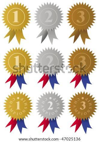 Award Medals / Ribbons - stock photo