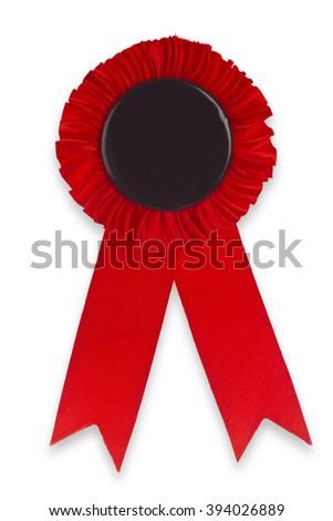 Award Ribbon isolated on white background - stock photo
