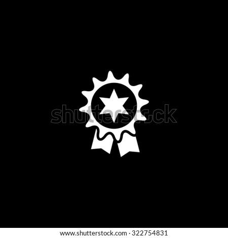 Award. Simple icon. Black and white. Flat illustration - stock photo