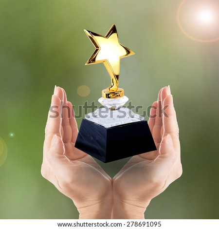 Award Star for you winner people  - stock photo