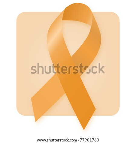 Awareness Ribbon - Attention Deficit Hyperactivity Disorder - stock photo