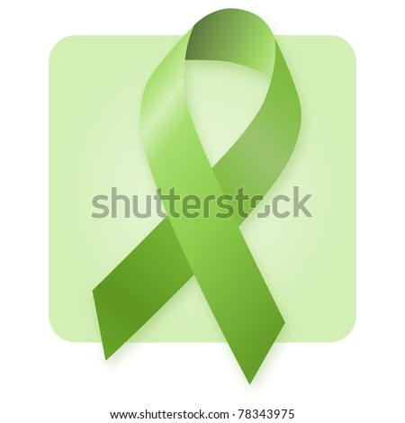 Awareness Ribbon - Environmental protection - stock photo