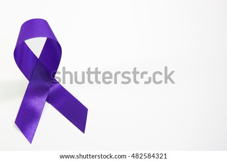 Awareness Violet Purple Ribbons Common Cancer Stock Photo Safe To