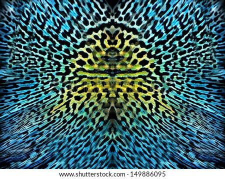 awesome Blue ditsy animal skin background  - stock photo