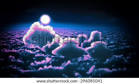 Awesome clouds - stock photo