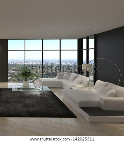 Awesome Modern Loft Living Room | Architecture Interior - stock photo