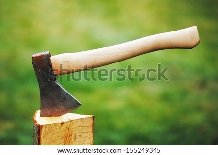 Axe - stock photo