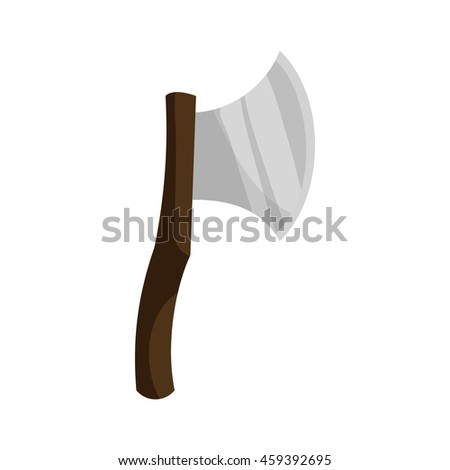 Axe icon in flat style with long shadow. Tool for cutting symbol