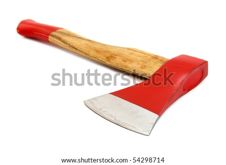 Axe red - stock photo