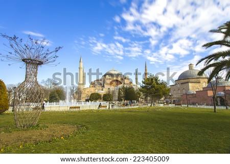 aya sofia istanbul - stock photo