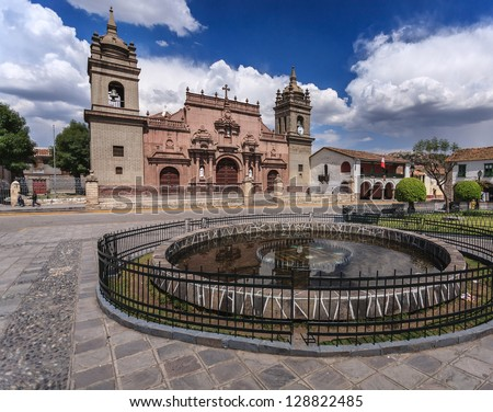 Ayacucho, Peru: view of one of the ayacucho churchs - stock photo