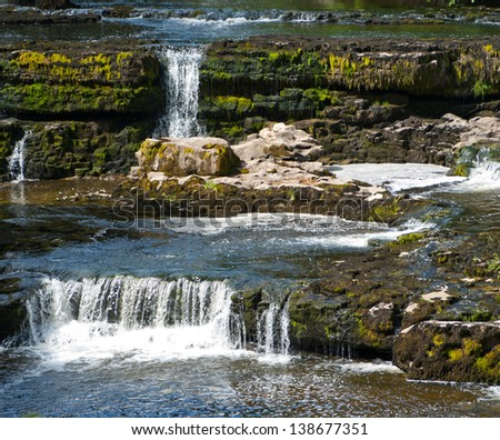 Aysgarth Falls in North Yorkshire, England, UK - stock photo