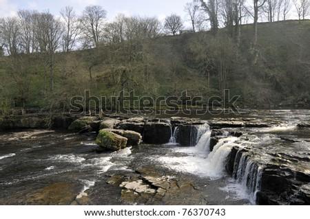 Aysgarth Falls, Wensleydale, Yorkshire - stock photo