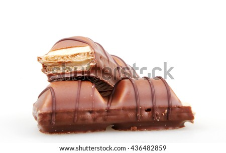 AYTOS, BULGARIA - JUNE 13, 2016: Kinder Bueno Chocolate Candy Bar. Kinder Bueno Is A Chocolate Bar Made By Italian Confectionery Maker Ferrero. - stock photo