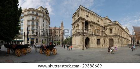 Ayuntamiento de Sevilla, (Town Hall) Old Town. Spain - stock photo