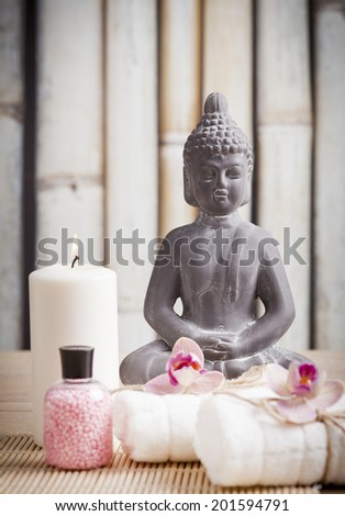 ayurveda concept for serenity and meditation   - stock photo