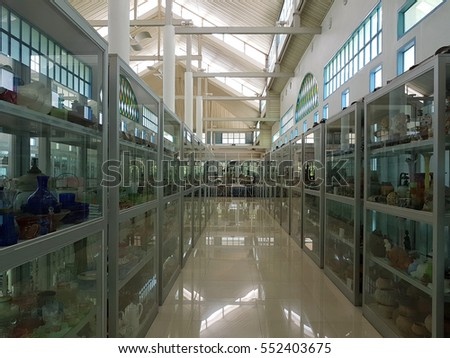 AYUTTHAYA, THAILAND - NOVEMBER 29: aisle with glass cabinet at MILLION TOY MUSEUM BY KRIRK YOONPUN on November 29, 2016 in Ayutthaya, Thailand.