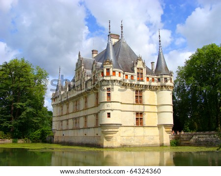 Azay le Rideau Chateau in the Loire Valley, France - stock photo