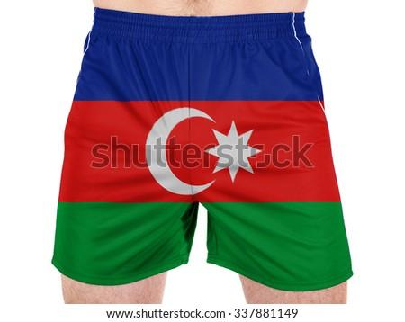 Azerbaijan. Azerbaijani flag - stock photo