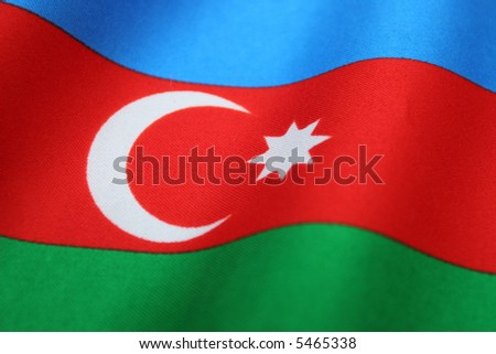 Azerbaijan flag - stock photo
