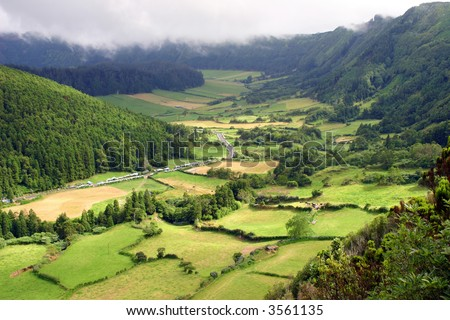 azores natural landscape in s miguel island