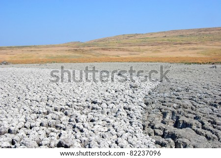 Azov muddy desert - stock photo