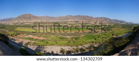 Azpitia, Lima, Peru: view of a tipic pacific valley in the peruvian coast. - stock photo