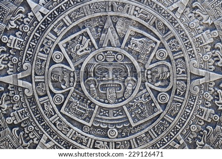 aztec history background - stock photo