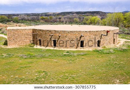 Aztec Ruins National Monument - stock photo