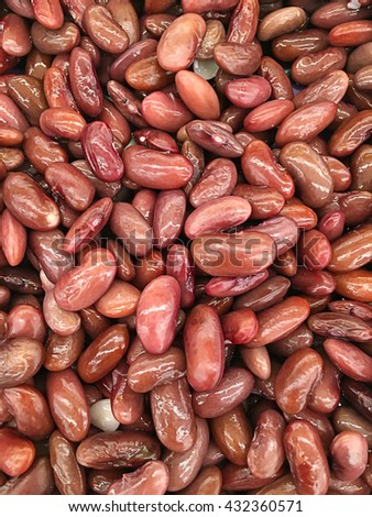 azuki beans , red beans at salad - stock photo
