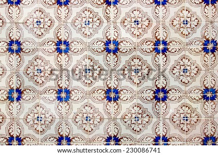 Azulejo is a form of Portuguese or Spanish painted, tin-glazed, ceramic tilework