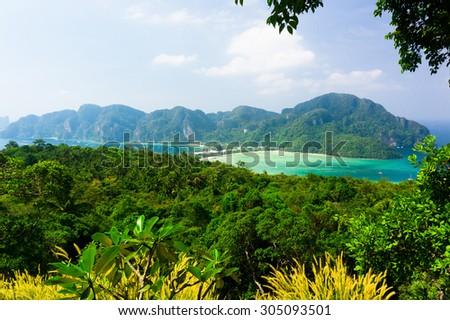 Azure Bay Heaven Seascape  - stock photo