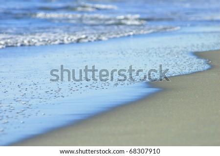 Azure ocean shore - stock photo