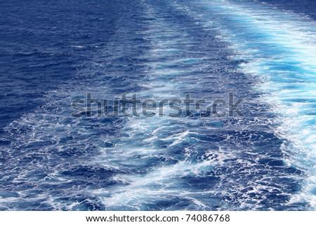 Azure sea water surface with ripple can use as background