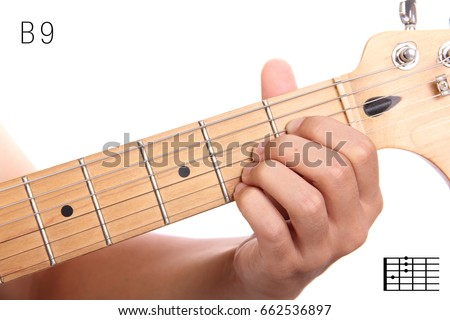B9 Advanced Guitar Keys Series Closeup Stock Photo Royalty Free