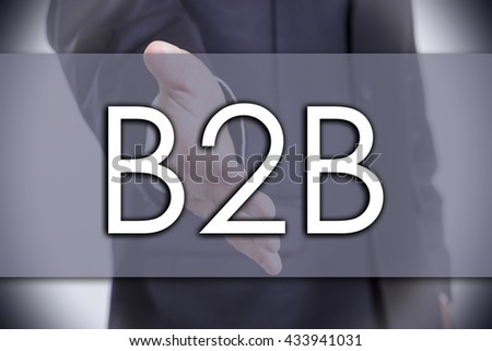 B2B - business concept with text - horizontal image