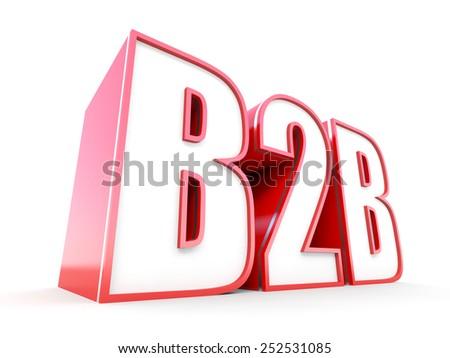 B2B 3D typography - stock photo