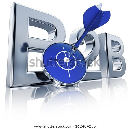 B2B icon - stock photo