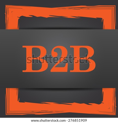 B2B icon. Internet button on grey background.  - stock photo
