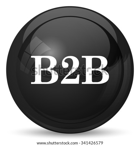 B2B icon. Internet button on white background.  - stock photo