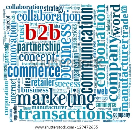 B2B  in word collage - stock photo