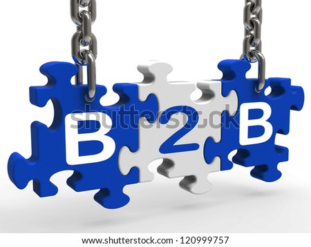B2b Showing Sign Of Business And Commerce