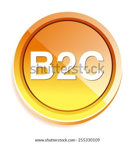 b2c ( business to consumer ) button - stock photo